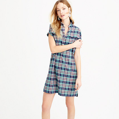 Shirtdress in vintage plaid