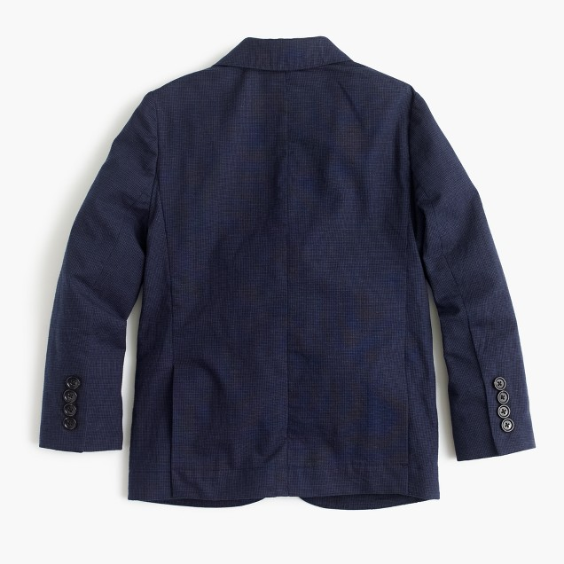 Boys' summerweight cotton-linen blazer in navy
