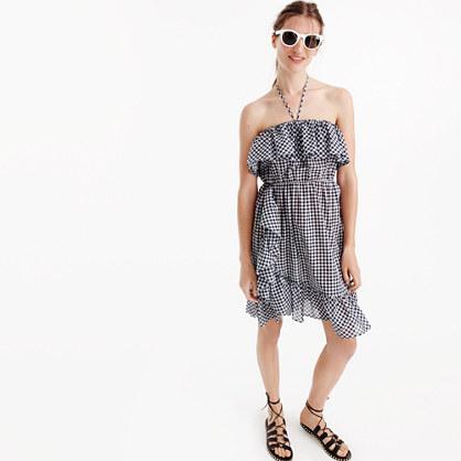 Ruffled dress in gingham