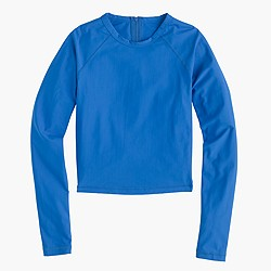 Cropped long-sleeve rash guard