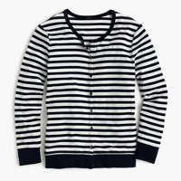 Perfect-fit striped cardigan