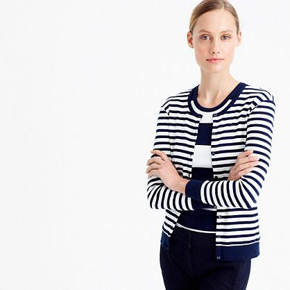 Perfect-fit striped cardigan