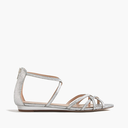 Cary mini-wedge sandals in glitter
