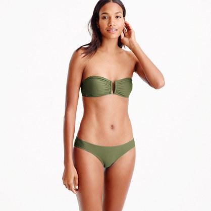 U-front bandeau bikini top