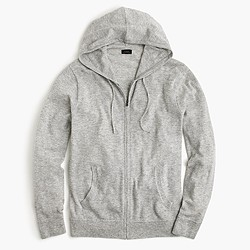 Lightweight Italian cashmere full-zip hoodie