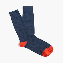 Solid cotton socks