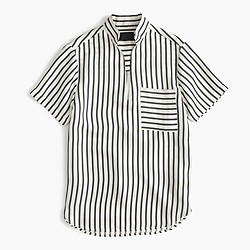 Collection silk top in stripe
