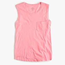 Garment-dyed muscle T-shirt