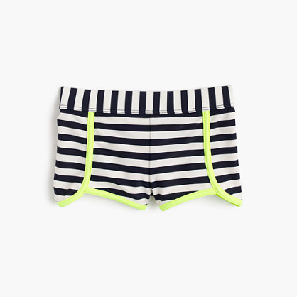 Girls' striped surf short