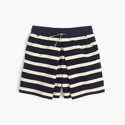 Girls' striped pull-on skort