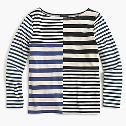 Patchwork-striped T-shirt