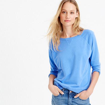Garment-dyed crewneck sweatshirt
