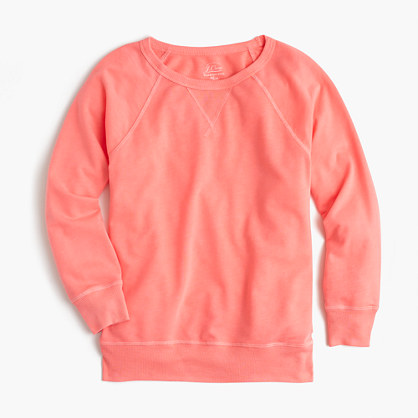 Garment-dyed crewneck sweatshirt