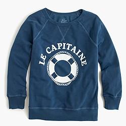 Le capitaine garment-dyed sweatshirt