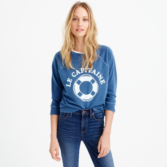 Le capitaine garment-dyed sweatshirt