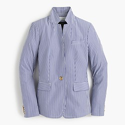 Deconstructed Regent blazer in shirting stripe