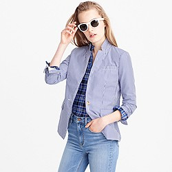 Petite deconstructed Regent blazer in shirting stripe
