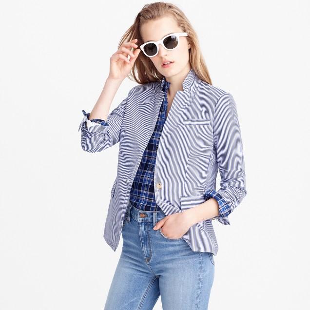 Petite deconstructed Regent blazer in shirting stripe
