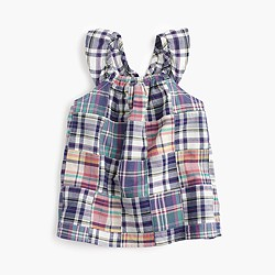 Girls' madras top