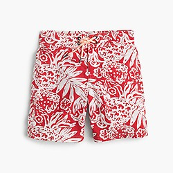 Boys' board short in block floral