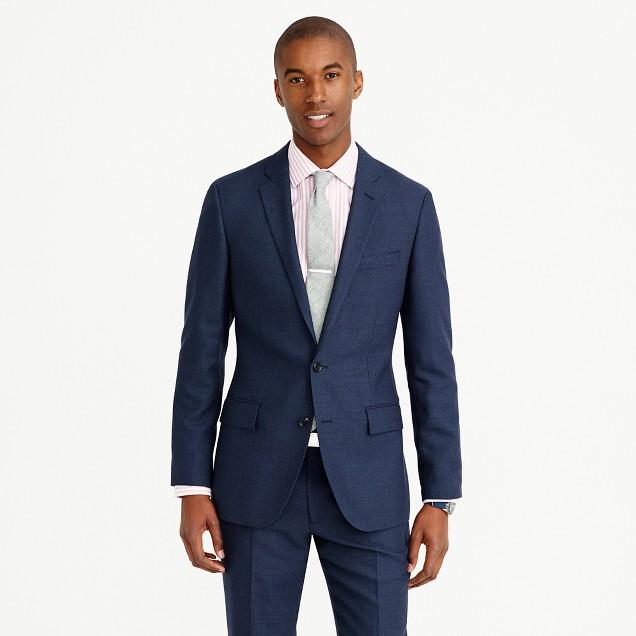 Ludlow suit jacket in bird's-eye Italian wool