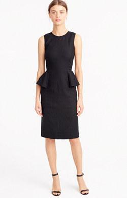 Linen peplum dress