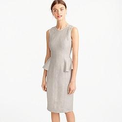 Tall linen peplum dress