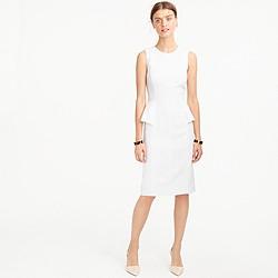 Petite linen peplum dress