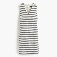 Petite striped tweed sheath dress