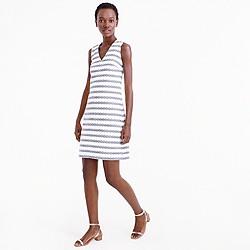 Petite striped tweed sheath dress