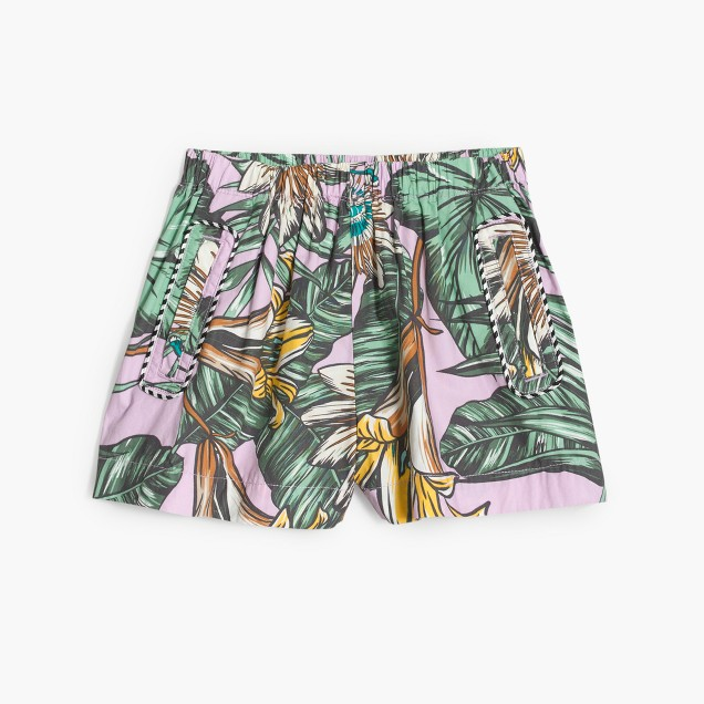 Girls' skirty short in pastel frond print