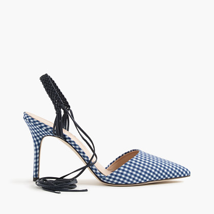 Elsie slingback gingham pumps