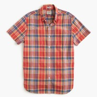 Indian madras shirt in dark guava
