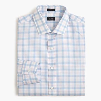 Ludlow shirt in pale blue plaid