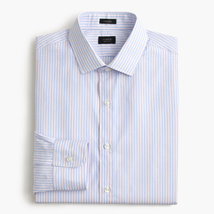 Ludlow shirt in striped end-on-end cotton
