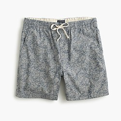 Dock short in indigo floral