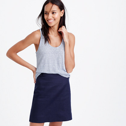 Linen tank top in stripe