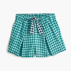 Girls' skirty short in turquoise gingham