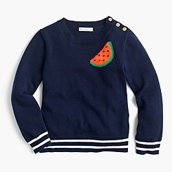 Girls' watermelon popover sweater