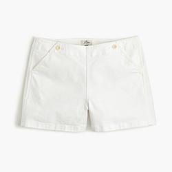 Denim sailor short in white