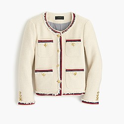 Fringy tweed jacket