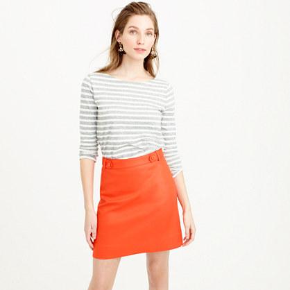 Mini skirt in bonded linen