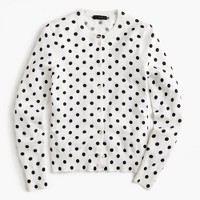 Cotton Jackie cardigan sweater in dot
