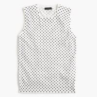 Cotton Jackie shell in dot