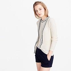 Italian bouclé cardigan sweater