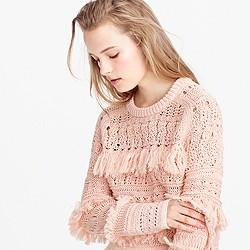 Pre-order Collection fringe crewneck sweater