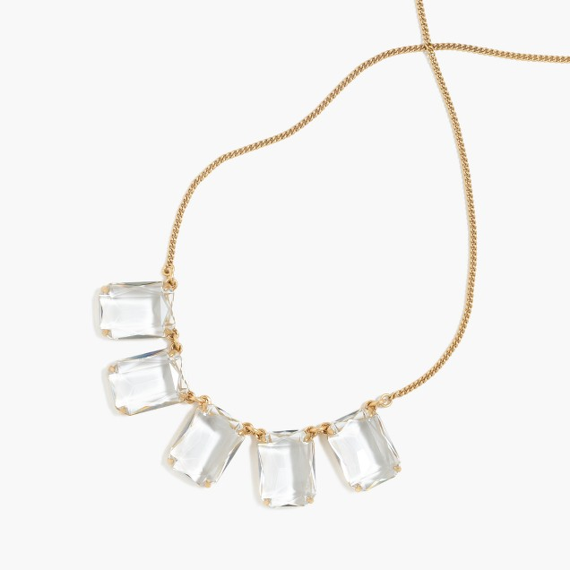 Rectangular glass necklace