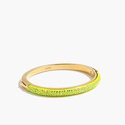 Rounded pavé hinge bracelet