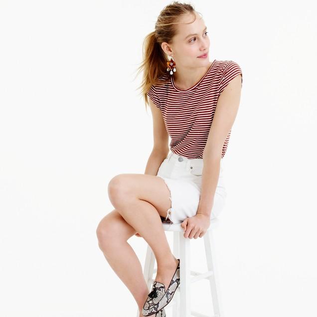 Ballet cap-sleeve T-shirt in stripe