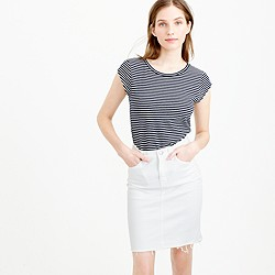 Ballet cap-sleeve T-shirt in stripe